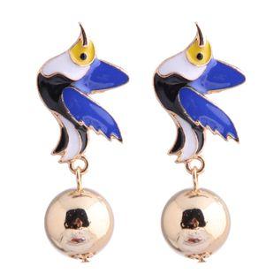 Nueva moda metal wild drop oil hit color swallow pendientes exagerados yiwu nihaojewelry al por mayor NHSC210443's discount tags