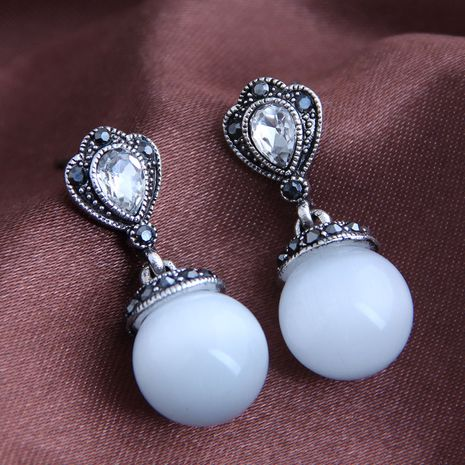 Korean fashion sweet opal earrings yiwu nihaojewelry wholesale NHSC210438's discount tags