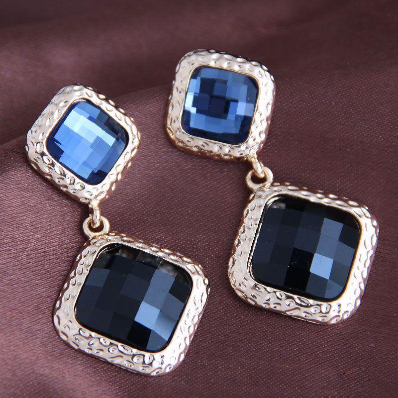 New fashion simple baroque gem box exaggerated earrings yiwu nihaojewelry wholesale NHSC210437
