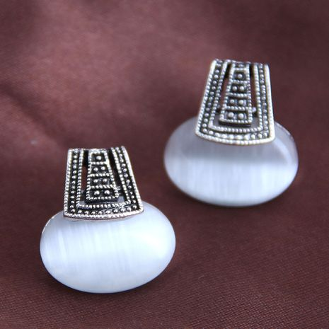 Korean fashion sweet simple opal earrings yiwu nihaojewelry wholesale NHSC210436's discount tags
