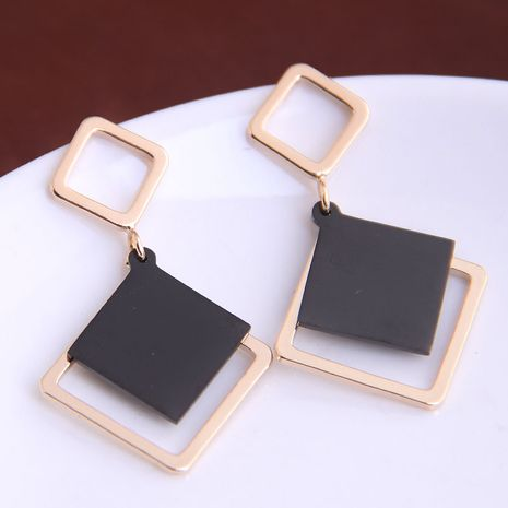 Korean fashion sweet simple square earrings yiwu nihaojewelry wholesale NHSC210435's discount tags