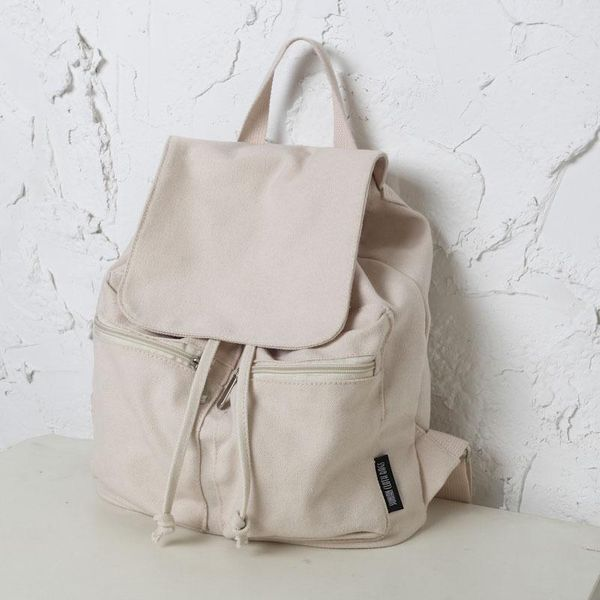 New school bag casual canvas backpack college style travel backpack student bag NHGA210226