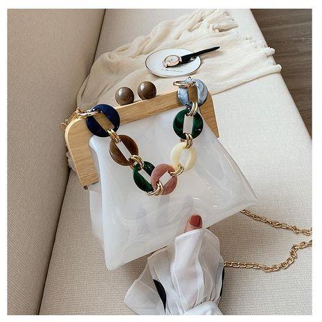 PVC transparent sac femelle en gros yiwu nihaojewelry nouveau sac en plastique acrylique gelée sac en bois clip épaule messager chaîne sac NHGA210244's discount tags