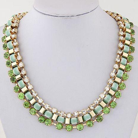 New fashion metal luxury shiny rhinestone necklace yiwu wholesale NHSC207109's discount tags