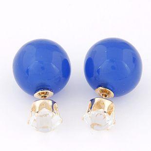 Simple diamond ball bead wild earrings yiwu wholesale NHSC207114's discount tags