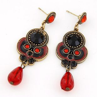Stylish metal simple water drop earrings NHSC207142's discount tags