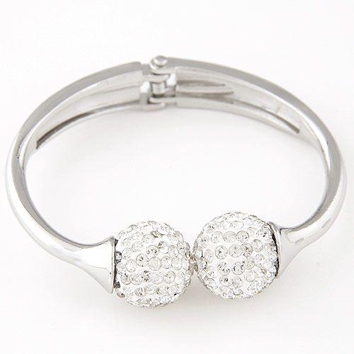 Fashion metal trend bright ball opening bracelet yiwu wholesale NHSC207131