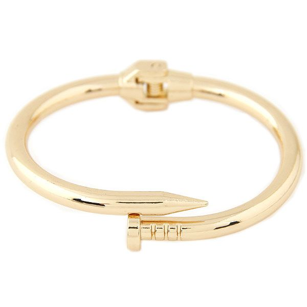 New fashion metal trend simple nail exaggerated bracelet wholesale Yiwu NHSC207485