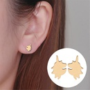Simple cartoon unicorn earrings environmental protection alloy plating animal horse head earrings wholesale NHCU206470