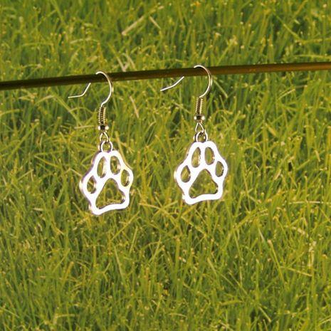 Nouveau mode animal chat chien empreintes d'oreilles boucles d'oreilles creuses chat griffe chien griffe boucles d'oreilles en gros NHCU206478's discount tags