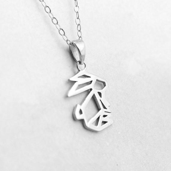 Popular Cute Rabbit Pendant Necklace Alloy Color Preservation Plating Hollow Rabbit Pendant Necklace Wholesale NHCU206480