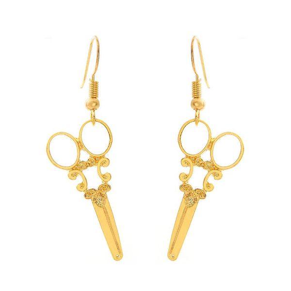 Retro pattern scissors earrings alloy pendants hypoallergenic ear hook cute little scissors earrings NHCU206479