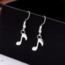 Fashion stereo music symbol earring earrings ladies sweet music pendant earrings NHCU206481