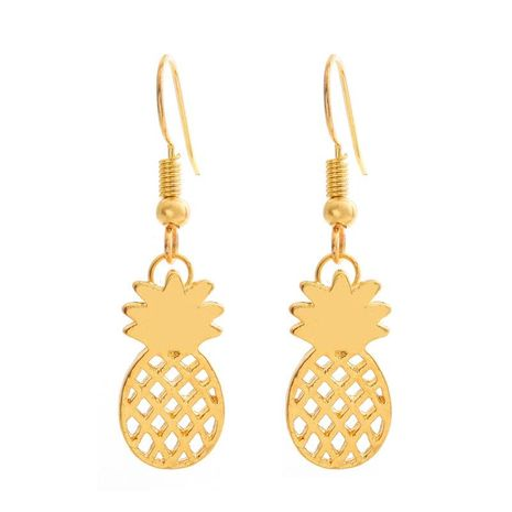 Cute fruit pineapple earring earrings female hypoallergenic ear hook hollow pineapple earrings NHCU206482's discount tags