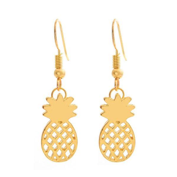Cute fruit pineapple earring earrings female hypoallergenic ear hook hollow pineapple earrings NHCU206482