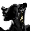 Korean Metal Love Earrings Hollow Than Heart Gesture Earrings Wholesale NHCU206484