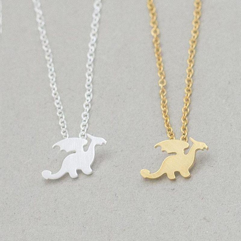 New cute little dinosaur clavicle chain wholesale NHCU206489