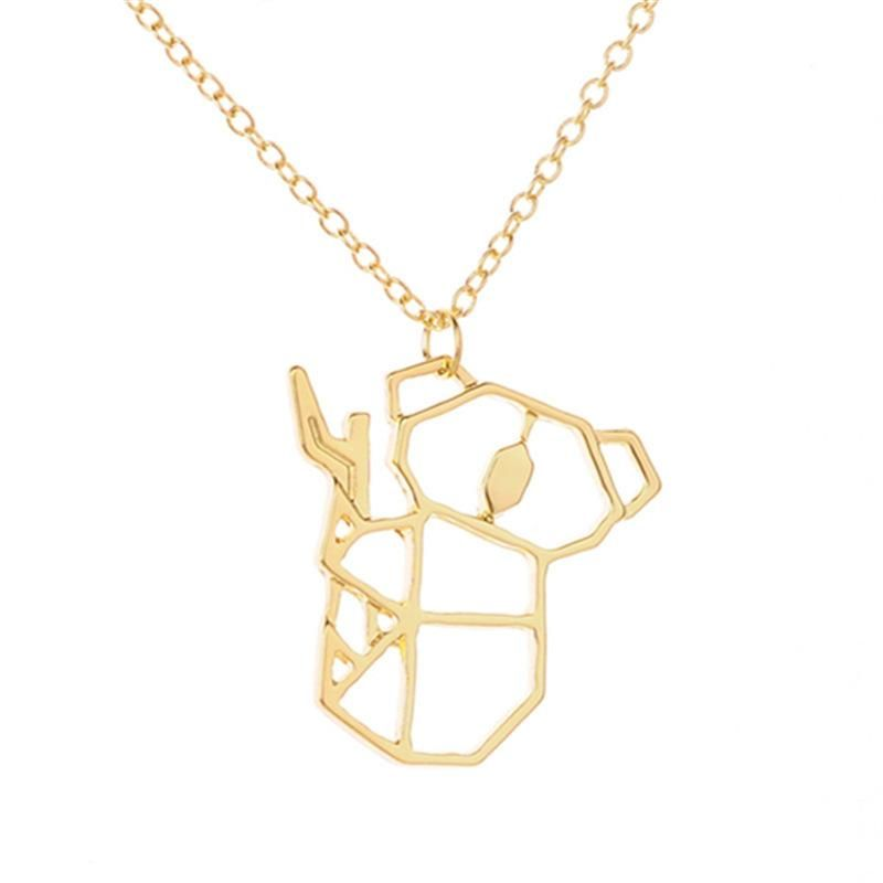 Animal necklace koala bear pendant necklace copper chain hollow bear necklace clavicle chain wholesale NHCU206490