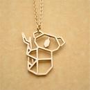 Animal necklace koala bear pendant necklace copper chain hollow bear necklace clavicle chain wholesale NHCU206490