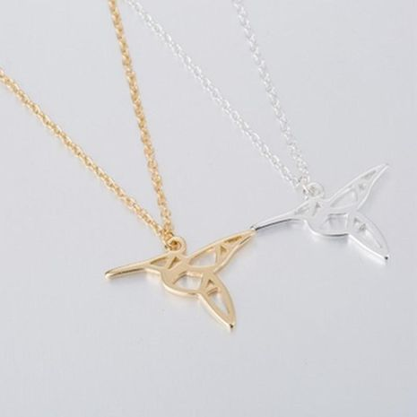Cute Hollow Bird Necklace Eco-Plating Gold Silver Woodpecker Pendant Necklace NHCU206491's discount tags