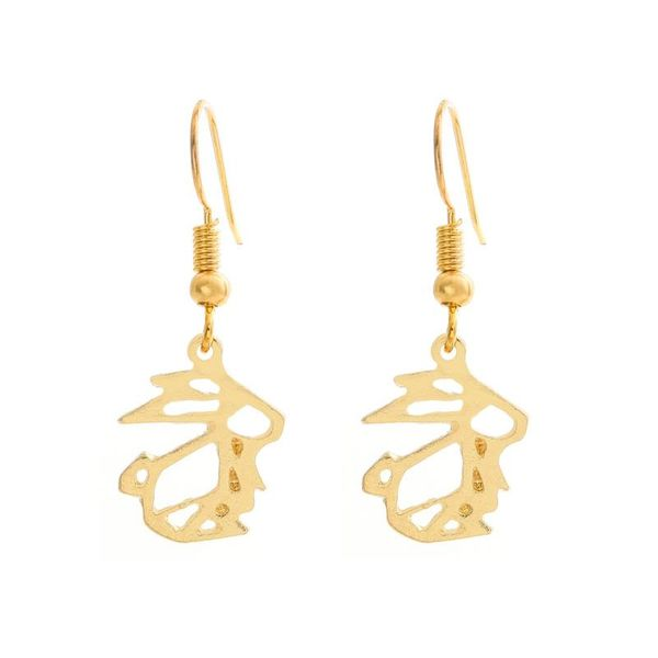 Cute Hollow Rabbit Earring Earrings Gold and Silver Plated Animal Bunny Ear Studs NHCU206492