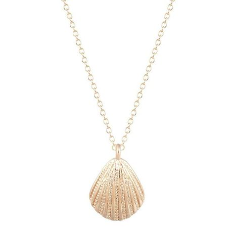 Marine Life Scallop Conch Shell Pendant Necklace Gold and Silver Female Clavicle Chain Wholesale NHCU206503's discount tags