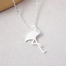 Cute animal necklace ostrich redcrowned crane pendant necklace short fine clavicle chain wholesale NHCU206509