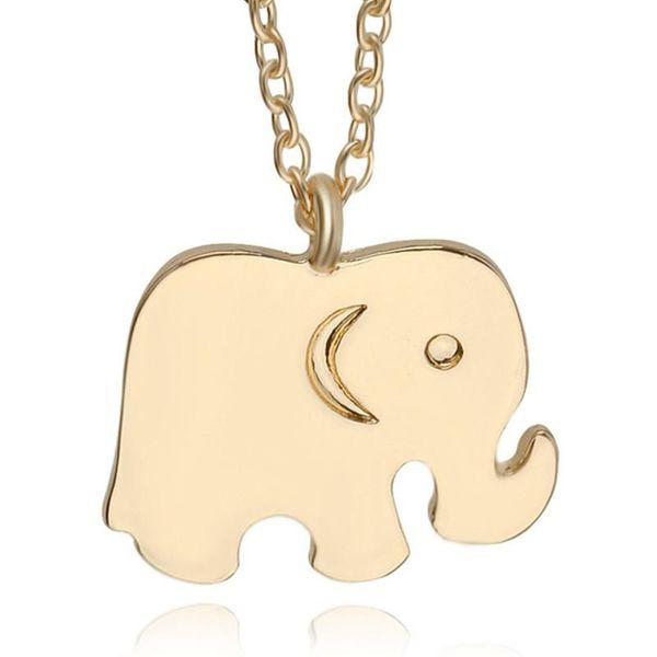 Fashion Elephant Necklace Animal Series Glossy Elephant Pendant Necklace Clavicle Chain New Baby Elephant Bracelet NHCU206511