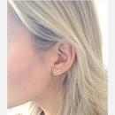New Simple Honeycomb Stud Alloy Plating Hollow Geometric Hexagon Stud Earrings Wholesale NHCU206515