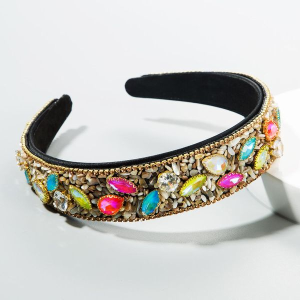 Korean wide-edge crystal headband Korean hair accessories fashion cheap headband wholesale NHLN206519