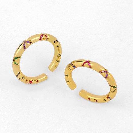 New zircon ring female ring couple jewelry NHAS206557's discount tags