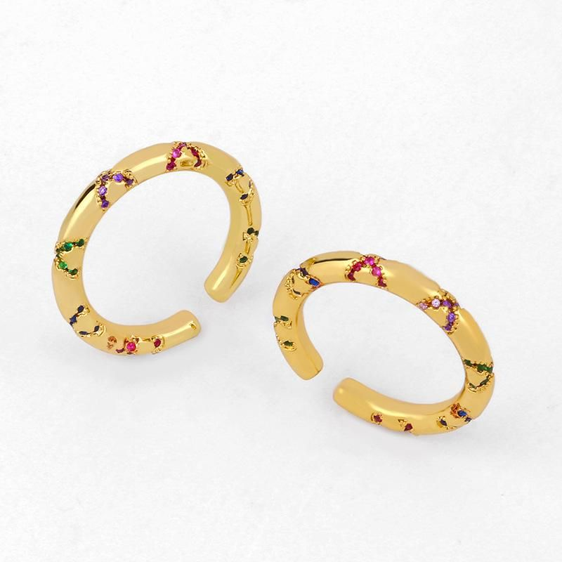 New zircon ring female ring couple jewelry NHAS206557