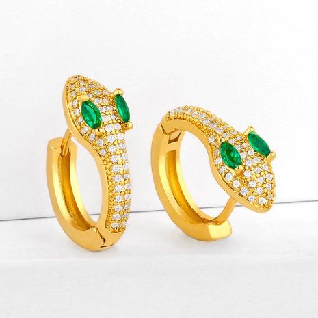 New fashion exaggerated snake earrings diamond stud earrings wholesale NHAS206560's discount tags