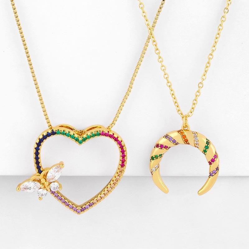 New fashion love butterfly necklace diamond necklace women wholesale NHAS206564