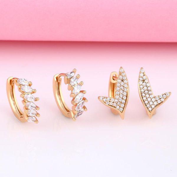 Women's new fashion diamond earrings NHAS206565