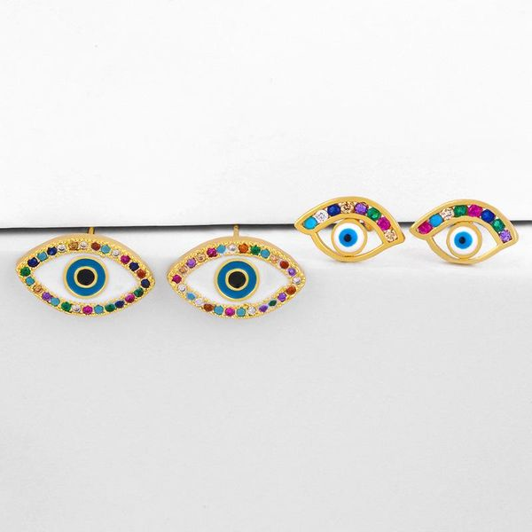 New Simple Drip Fatima Demon Eye Eye Studs NHAS206571