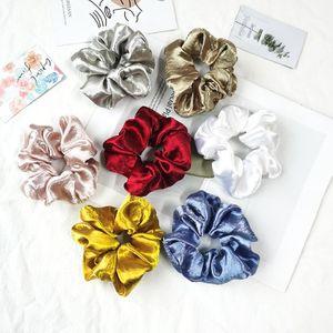 New fashion satin retro solid color cheap scrunchies wholesale NHSA206587