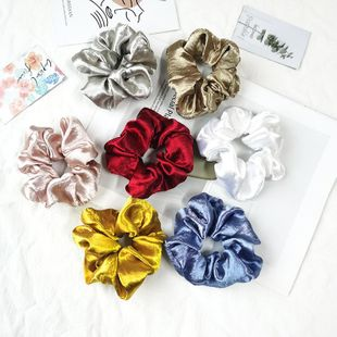 New fashion satin retro solid color cheap scrunchies wholesale NHSA206587's discount tags