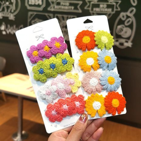 Pinza para el cabello de flores dulces pinza lateral linda chica horquilla parte posterior de la cabeza Tocado con clip coreano NHSA206588's discount tags