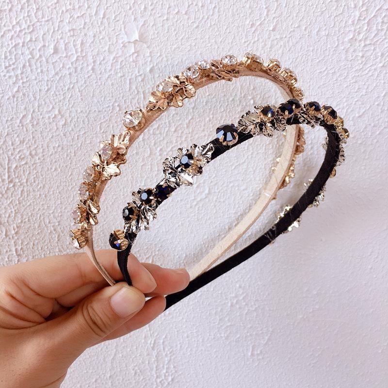New wild blue diamond baroque retro hair hoop head buckle hairpin hair accessories headdress NHHI206592