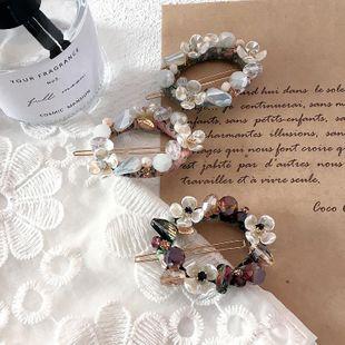New Korean handmade flower oval simple wild cheap hair clip wholesale NHHI206595's discount tags