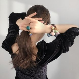 New Korean color matching a few shapes of wild cheap scrunchies wholesale NHHI206603's discount tags
