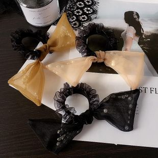 New Korean yarn bag beads large bow cheap scrunchies wholesale NHHI206614's discount tags