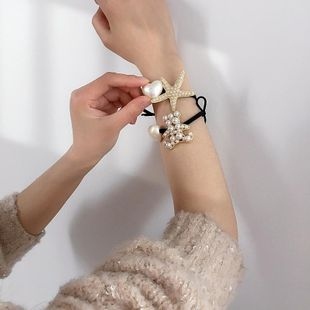 New simple and cute wild pearl starfish bear girl series love pearl cheap scrunchies wholesale NHHI206620's discount tags
