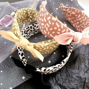 New leopard pattern simple wild color matching small ear headband women NHHI206624