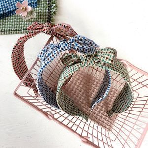 New Chiffon Fabric Printing Top Knot Rabbit Ears Wild Simple Hair Band Wholesale NHHI206626