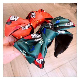Korean retro green red cartoon double bow cheap hair hoop wholesale NHHD206629's discount tags