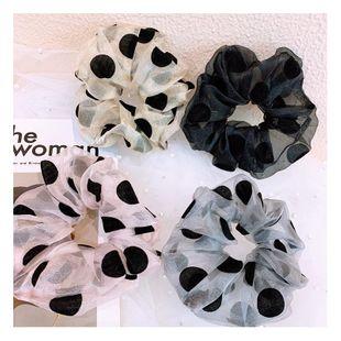 Korean vintage spun polka dot handmade cheap scrunchies wholesale NHHD206631's discount tags