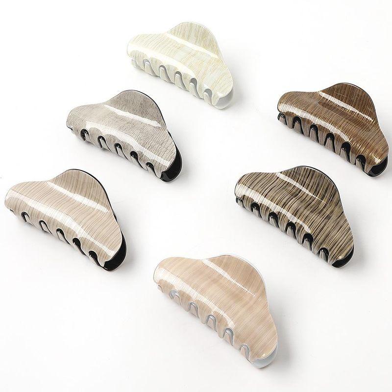 Korean wood grain acrylic hair accessories marble pattern retro large plate hair clip cheap grab clip wholesale NHDM206648