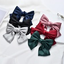Silk double satin oversized bow hair clip top clip hair accessories fabric cheap spring clip NHDM206654